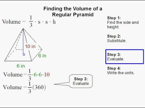 how to find the volume of a regular pyramid youtube. Black Bedroom Furniture Sets. Home Design Ideas