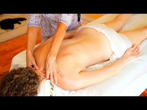 Back Massage For Women, Athena Jezik Massage Therapy Tutorial For Relaxation