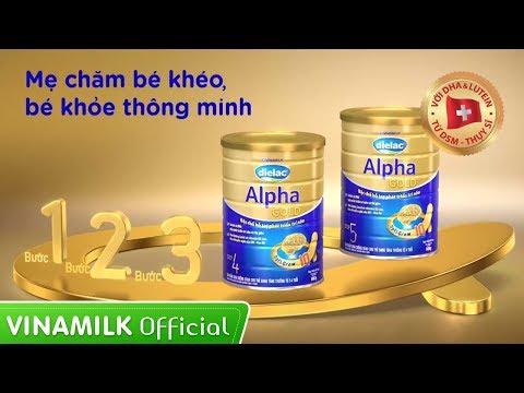 Quảng cáo Vinamilk - Sữa bột Dielac Alpha Gold 4 - Dinh dưỡng giúp bé phát triển trí não tốt hơn