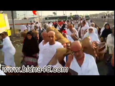 نحف  وفيديو من وصول الحجاج الى جبل عرفة ورمي الحصى