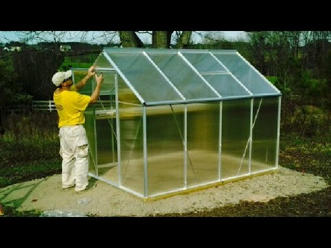 Harbor Freight Greenhouse UNBOXING & Setup Hot House Container Garden Palram Gardman