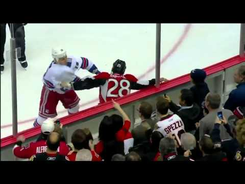 Sean Avery vs. Zenon Konopka 11/09/2011 [HD]