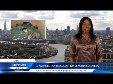 3-year-old boy rescued from sewer in Colombia