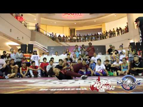 FLOOR COMBAT 2013 | BBOY 1 ON 1| FINAL | BBOY KHENOBU VS BBOY KID INNZ | BBOYWORLDMALAYSIATV