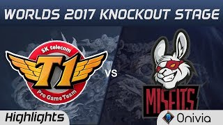 SKT vs MSF  Highlights Game 3  World Championship 2017 Knockout Stage SK Telecom T1 vs Misfits Gam