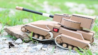 How to make a Tank from Cardboard - Amazing Toy DIY