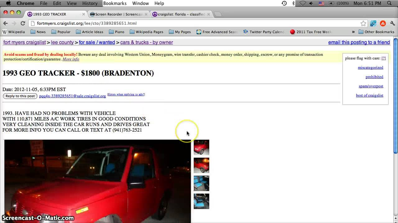 Craigslist Lee County Florida Used Cars for Sale by Owner ...