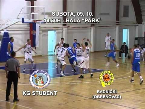 Najava: KG Student - Radnički (Obrenovac)