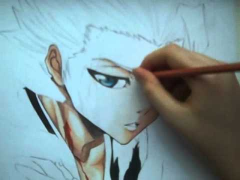 Drawing Toshiro Hitsugaya from Bleach
