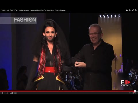 """JEAN PAUL GAULTIER"" feat. Conchita Wurst  Paris Haute Couture Autumn Winter 2014 Full Show HD by FC"