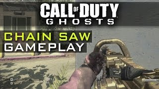 CoD Ghosts CHAIN SAW Best Setup - Chainsaw Gameplay - LMG Set Up