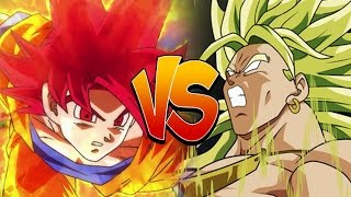 Super Saiyan God Goku Vs Legendary Super Saiyan Broly