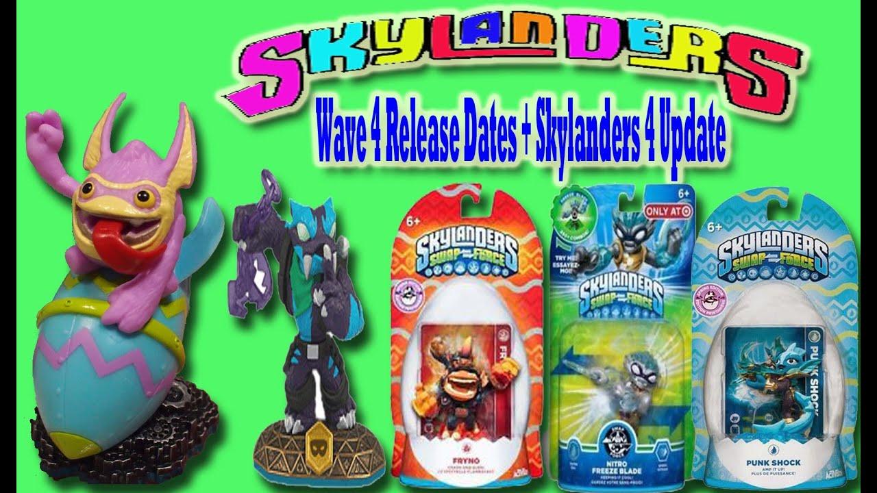 Skylanders 4 + Skylanders Swap Force Wave 4 Updates and Release Dates