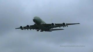First Etihad Airways A380 A6-APA In Primer Landing At