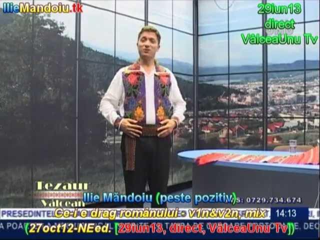 Ilie Măndoiu - Ce-i e drag românului - v1n&v2n, mix (27oct12-NEed. [29iun13, direct, VâlceaUnu Tv])