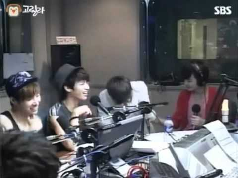 120629 Dongwoo fell off the chair after reading fan's message about Yadong