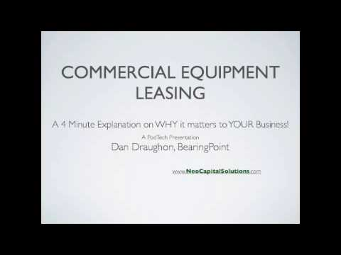 Equipment Leasing: A 4 Minute Explanation