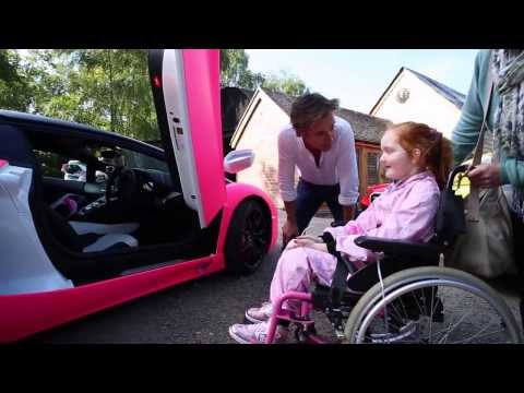 Richard Hammond grants Emilia's Rays of Sunshine wish to go in a pink Lamborghini!