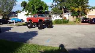 4x4 Lifted Ranger On 44 Inch Super Swampers Mud Truck