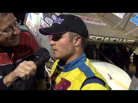 Lincoln Speedway 410 Sprint Car Victory Lane 10-20-13