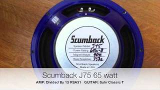 Scumback Speakers Demo By Pete Thorn/ProGearDemos