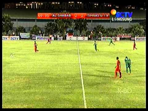 TIMNAS U-19 Indonesia vs AL SHABAB U-19. Skor 2-2 Bag II
