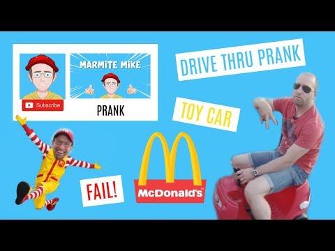 MCDONALDS DRIVE THRU | PRANK | FAIL | DRIVING | TOY CAR IN DRIVE THRU | FUNNY | MARMITE MIKE