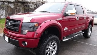"""6"""" PROCOMP LIFTED 2013 FORD F-150 SUPERCREW FX4 RUBY RED"""