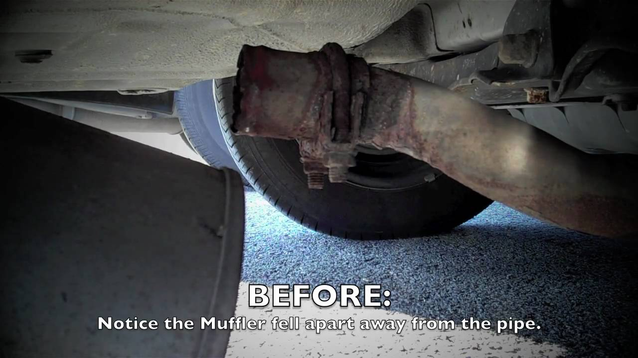 1996 Honda Accord Muffler Repair - YouTube