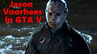 Jason In GTA 5 Friday The 13th Easter Egg / Freestyle