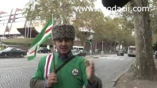 Protest cecen în fața Consiliului Europei