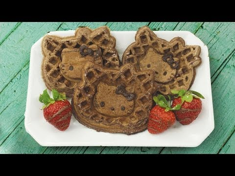 How to Make Hello Kitty Waffles!