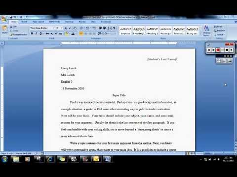 Accounting how to start a research paper intro