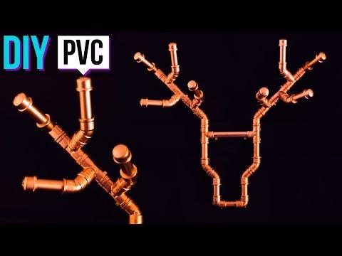 POLYTUBES  - DIY: Cabeça de alce decorativa cobre (Feita de PVC)