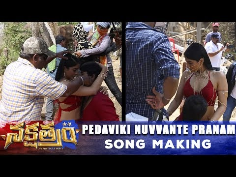 Nakshatram-Movie---Pedaviki-Nuvvante-Pranam-Song-Making