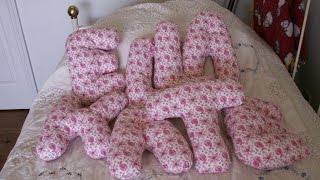 How 2 Make Whimsical Letter Pillows