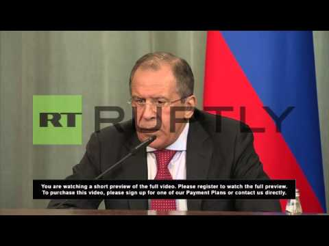 Russia: Moscow to discuss Syria with Kerry, says Lavrov