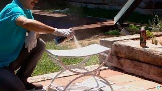 Cómo restaurar una silla de exterior oxidada