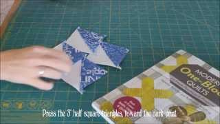 How To: Make Four Half Square Triangles From One Block