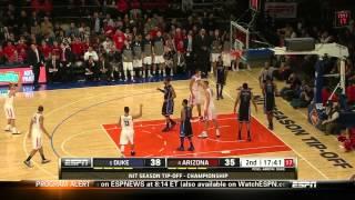 #4 Arizona Vs #6 Duke 11-29-13 (Full Game)