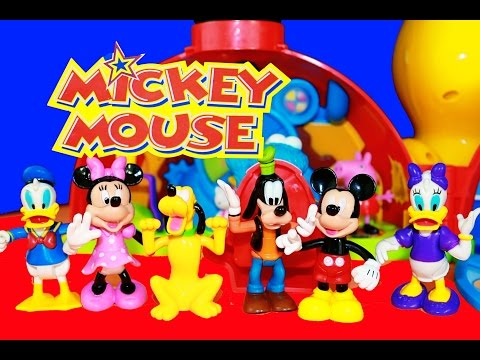MICKEY MOUSE CLUBHOUSE Disney Junior Mickey Mouse Clubhouse Playset Mickey Video Toy review Minnie
