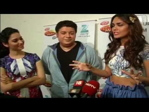 Sajid Khan , Esha Gupta & Tamanna on the sets of DID Lil Masters to promote Humshakal