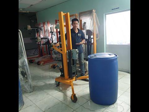 Hướng dẫn sử dụng xe nâng thùng phuy có cân DTF 450C-1 cho thùng phuy nhựa Lh 0909 216 299