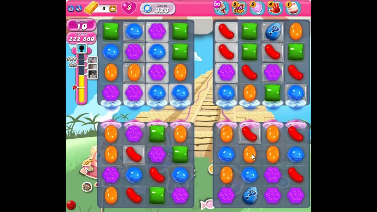 Candy Crush Saga Level 323 NEW - YouTube