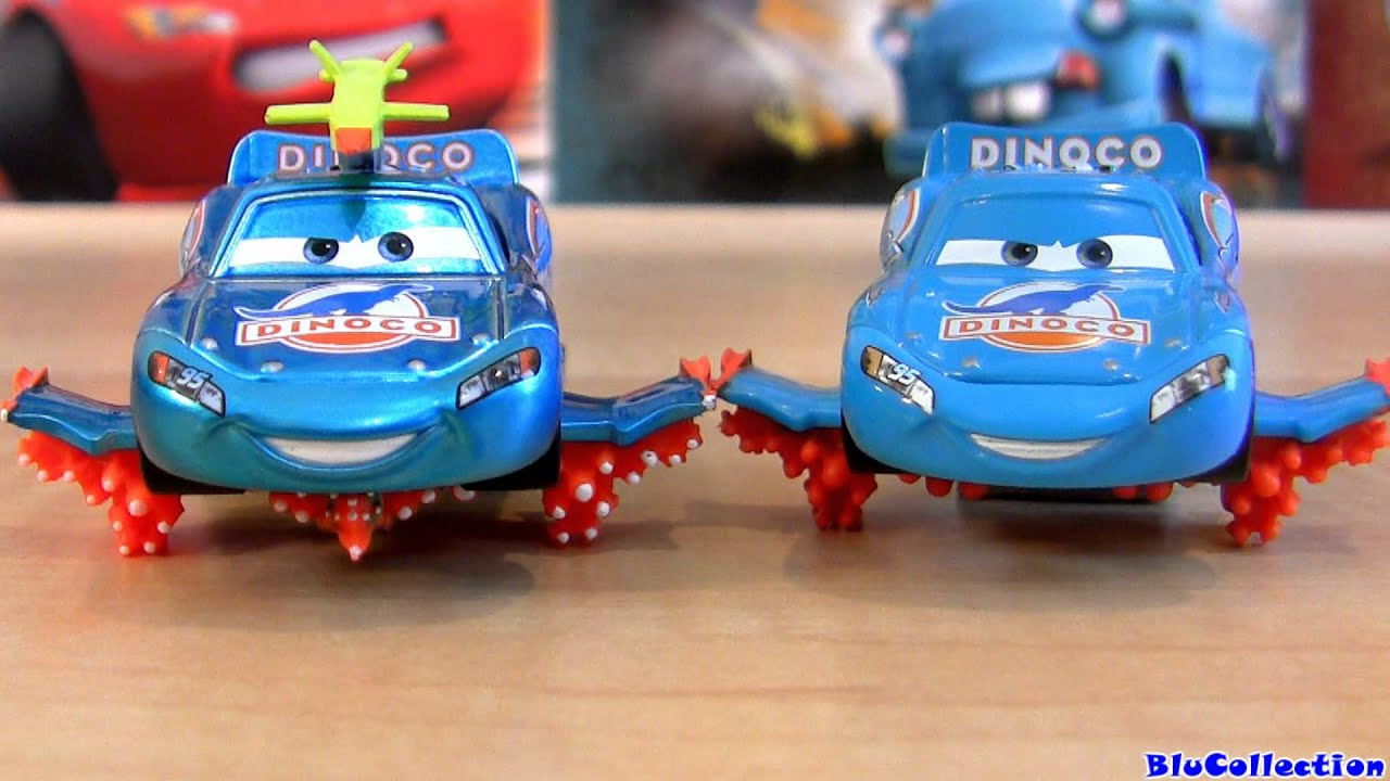 Disney Cars Toys Youtube: Cars 2 Lightning Storm McQueen Comic Con SDCC Toy Fair