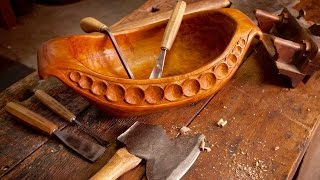 Hand Carved Wooden Bowl IV Cherry