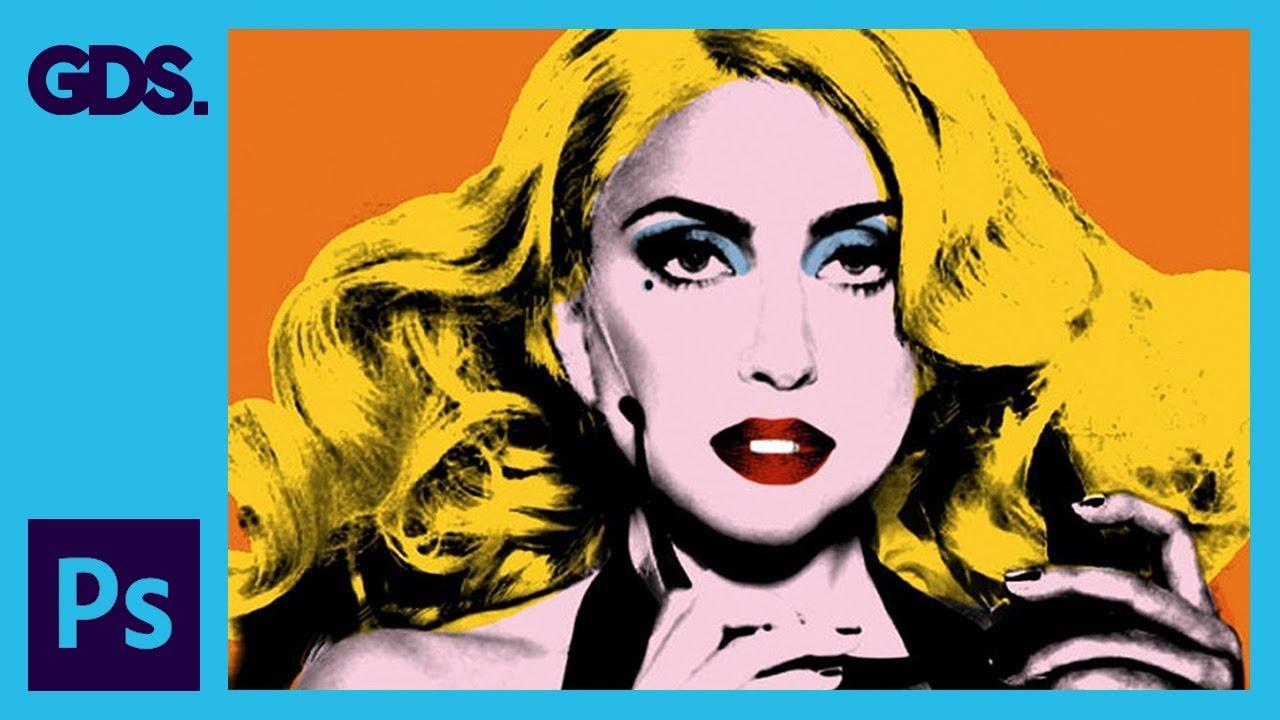 Create Andy Warhol Style Pop Art - Lady Ga Ga [Photoshop