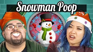 College Kids Vs. Food | SNOWMAN POOP CHALLENGE