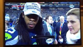 Richard Sherman Seahawks Post Game Interview 2014 NFC
