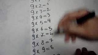 طريقة مبتكرة لضرب الرقم 9
